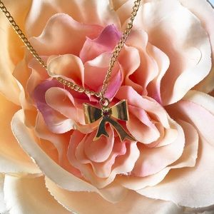 Other - 3 for $10 Gold Tone Necklace with Ribbon Charm